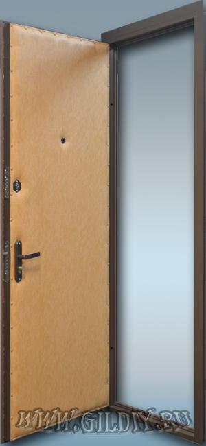 двери эконом класса входные из листа