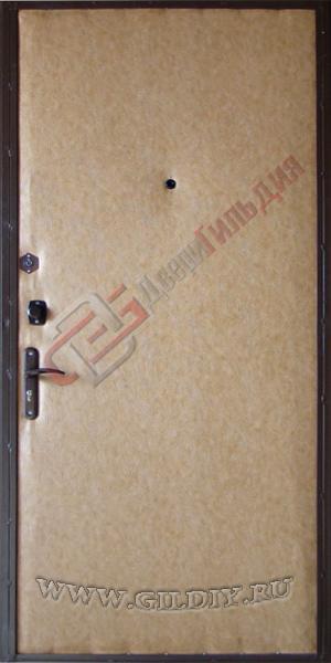 железная дверь дермантин