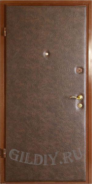 отделка железных двери дермантином