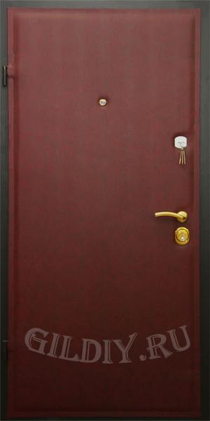 стальные двери из винилискожи