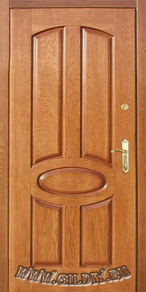 входные двери с отделкой из массива дерева